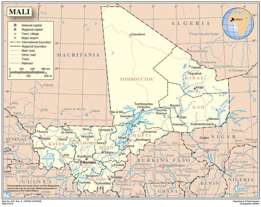Map of Mali | MINUSMA