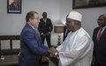 Le RSSG et Chef de la MINUSMA reçu aujourd'hui par le Président de la République du Mali
