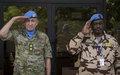 Le Général de division Michael Lollesgaard Commandant de la Force de la MINUSMA prend ses fonctions