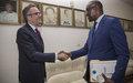 Le nouveau Représentant spécial adjoint aux affaires politiques de la MINUSMA, M. Davidse a rencontré le ministre des Affaires étrangères, M. Diop