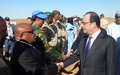 François Hollande salue le travail de la MINUSMA au Mali