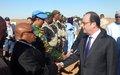A Gao : François Hollande salue le travail de la MINUSMA au Mali