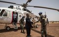 Le leadership de la MINUSMA à Mopti aux côtés des militaires et des civils