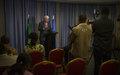 Le Secrétaire général adjoint aux opérations de maintien de la paix  Monsieur Hervé Ladsous rencontre la presse