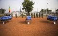 la MINUSMA rend hommage aux trois Casques bleus tchadiens tués dans une attaque fin octobre