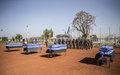 Cérémonie d'hommage aux quatre Casques bleus bangladais ce matin à Bamako