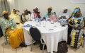 Les femmes échangent sur les voies et moyens d'accroitre leur participation à la mise en œuvre et au suivi de l'accord de paix