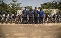 La Police des Nations Unies procède à la clôture d'une formation et au don de 20 motos à l'école nationale de Police de Bamako