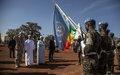 L'Etat malien et la MINUSMA rendent hommage aux Casques bleus tchadiens tombés au combat à Aguelhok, le 20 janvier 2019