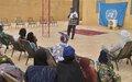 La MINUSMA à Gao continue ses activités de sensibilisation et d'information sur son Mandat