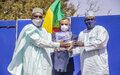 Appui de la MINUSMA à la riposte nationale contre la Covid-19 : la presse malienne reçoit du matériel de protection