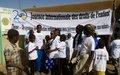 La journée des droits de l'enfant célébrée par Les élèves de Korioumé et la Police des Nations Unies