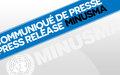 Le Chef de la MINUSMA se félicite de la Déclaration de la CTMS signée à Alger