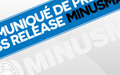 Communiqué de Presse - Mort d'un casque bleu suite à l'attaque du 26 octobre 2017