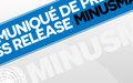 Un Casque bleu de la MINUSMA décédé aujourd'hui suite à une attaque à l'engin explosif improvisé (IED)