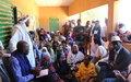 La MINUSMA échange avec la population de Gossi