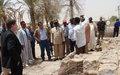 Une délégation d'ambassadeurs visite le chantier de reconstruction des mausolées de Saints à Tombouctou