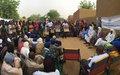 La MINUSMA à la population de Zindiga, Cercle de Gao : « Œuvrons ensemble pour ouvrir la voie vers une paix durable au Mali »