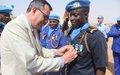 La médaille des Nations Unies décernée à 175 casques bleus à Tombouctou