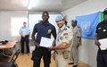 Des composantes de la Police et de la Garde nationale du Mali formées par la MINUSMA