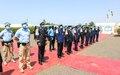 La médaille de l'ONU pour récompenser 161 Casques bleus de la police de la MINUSMA en service à Bamako