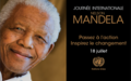 Message publié á l'occasion de la Journée internationale Nelson Mandela