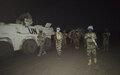 A Ansongo, les Casques bleus Nigériens de la MINUSMA patrouillent la nuit pour sécuriser les populations