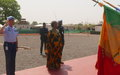 Cérémonie de remise de la médaille des Nations Unies à la SENFPU1 à Bamako