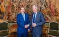Le Chef de la MINUSMA rencontre la Haute Représentante de l'Union Européenne pour les affaires étrangères et la politique de sécurité et le Vice-Premier Ministre et Ministre des Affaires étrangères et européennes de la Belgique