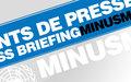 POINT DE PRESSE HEBDOMADAIRE DE LA MINUSMA - JEUDI  14 JANVIER 2016