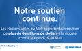 Riposte contre le Covid-19 au Mali : Les Nations unies apportent un soutien de plus de six millions de dollars américains
