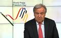 Message vidéo du Secrétaire générale de l'ONU diffusé à l'occasion de la Journée mondiale de la liberté de la presse - 3 mai 2018